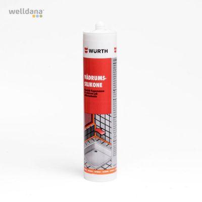 Sanitary silicone i tube.  Transperant og på eddikesyre