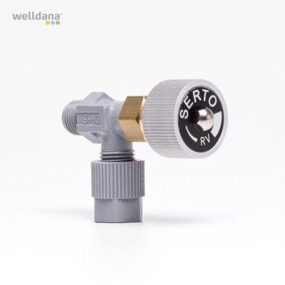Elbow shut off valve