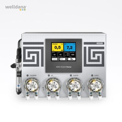 ASIN Aqua Home CLFvs. Poolkontrol (frit klor) Aseko poolkontrol inkl.  4 pumper og sensorer
