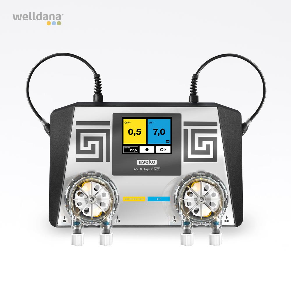 ASIN Aqua Net CLF (frit klor) Aseko kemikontroller inkl. 2 pumper og sensorer