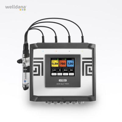 ASIN Aqua PROFI (off.) Frit klor og Redox Aseko pool kontroller inkl. 3 sensorer