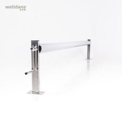 Oprulningsstativ rustfrit stål 305 mm. centerhøjde. (u/rør)