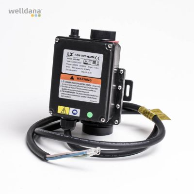 Spa elvarmer 3 KW  230 W m/hi+termostat 45 grader