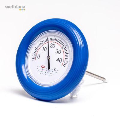 Termometer m / blå ring.