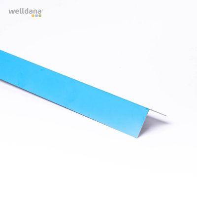 Folieblik, (5x5) x 200cm. Vinkel model. Blå.