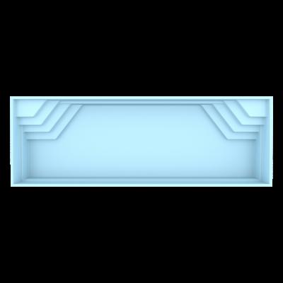 Fiber pool model Stockholm 11,25 x 3,75 x 1,5m