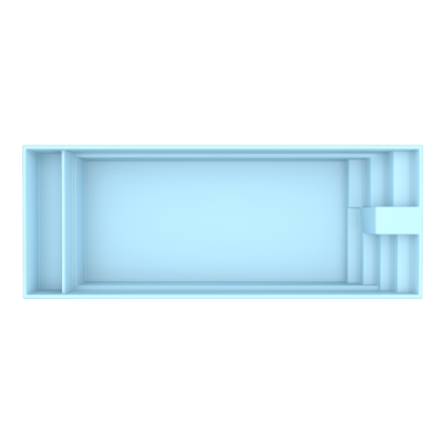 Fiber pool model Amsterdam 9,7 x 3,7 x 1,60 m