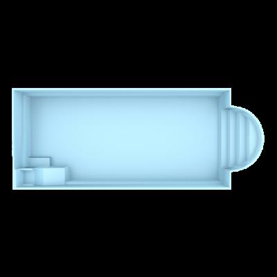 Fiber pool model Berlin 9,4 x 3,7 x 1,5 m