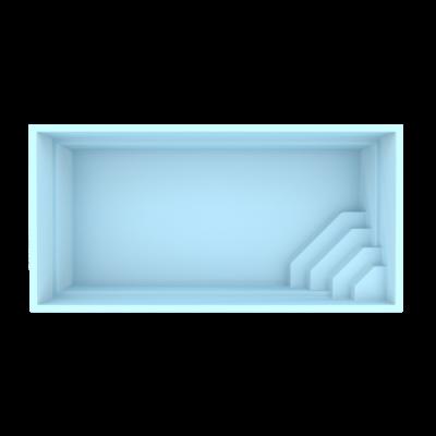 Fiber pool model Lissabon 6 x 3 x 1,45 m