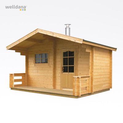 Outdoor sauna Keitele with Pro20 Woodburning stove