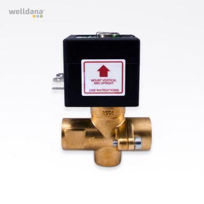 Magnetventil til automatisk tømning af generator.