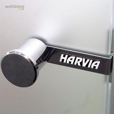 Håndtag + lås til sauna trædør Med magnetlås.