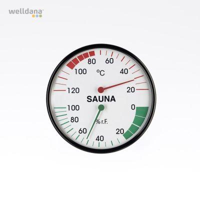 Thermo/hygrometer Ydermål ø12,8 cm