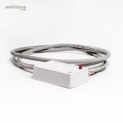 Niveausensor. 5-25V. 1m. Hvid/white/Weiss. T4 styring.