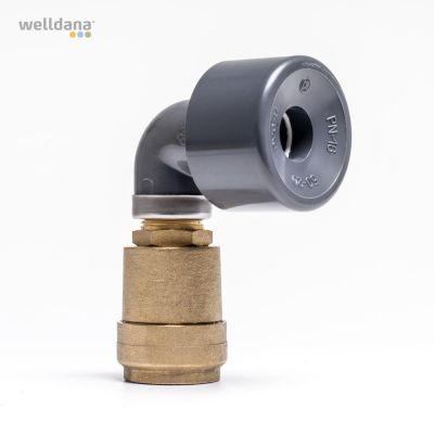 Udluftningsventil til solpanel 50 mm. Dobbeltvirkende.
