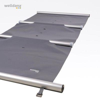 Sikkerhedscover grå med oprul og låse
