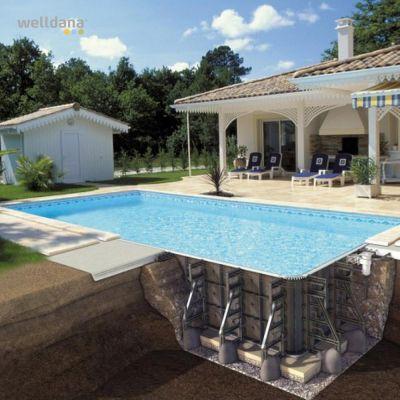 PPP pool, komplet med liner
