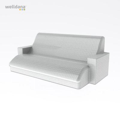 Harvia Relax bænk, uden beklædning Polystyren, vandresistent, 110.0x145.0cm